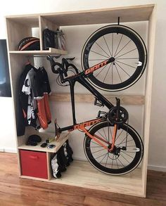 This unit houses everything for the avid cycler
