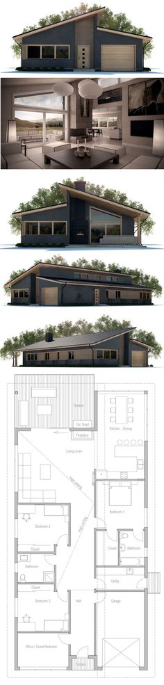 Casa modera, projeto de casa, planta de casa, arquitetura moderna.