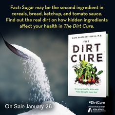 Fact: Sugar may be the second ingredient in cereals, bread, ketchup, and tomato sauce. Find out the real dirt on how hidden ingredients affect your health in The Dirt Cure by Maya Shetreat-Klein, MD available January 26, 2016.