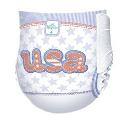 Just bought Charlotte these diapers to cheer on USA
