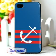 Anchor Personalized Navy iPhone 4/4s iPhone 5/5s/5c by Indomaret, $10.00
