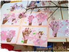 ママ&キッズの手形で桜