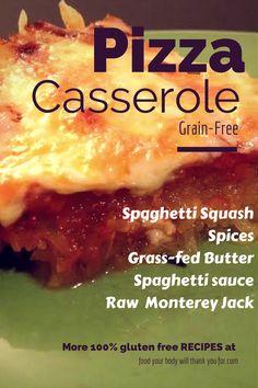 Pizza Casserole   #FoodYourBodyWillThankYouFor