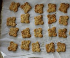 Cheesy Oat Crackers with Rosemary