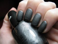 omg love the suede colors! i got the purplish one on my toes at the nail salon and the lady put put the glossy to coat over it. dumb. Grey Nail Art, Gray Nails, Matte Nails, Stiletto Nails, How To Do Nails, Fun Nails, Top Nail, Cruelty Free Makeup, Nail Art Stickers