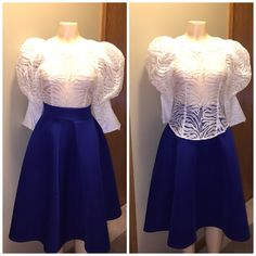 New Arrival!! Top n skirt Set... This blouse n skirt set is haute together Gracia Tops Blouses