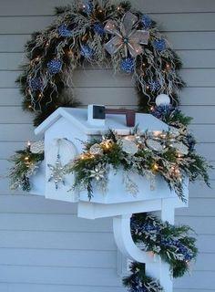 2015 Christmas mailbox cover decor, Christmas LED garland mail box decor, Christmas holiday home decor
