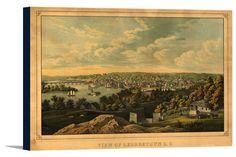 Canvas (Georgetown, Washington DC - (1855) - Panoramic Map)
