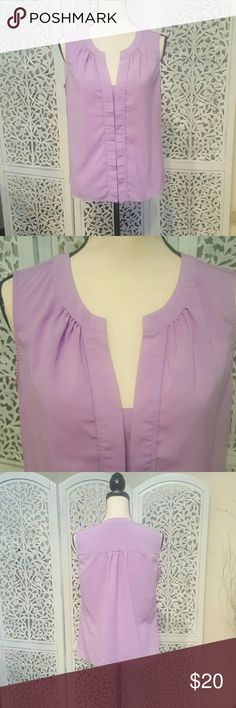 Calvin Klein Blouse Lavender sleeveless Calvin Klein blouse. Great to pair with jeans or slacks and a cardigan for work. Calvin Klein Tops Blouses