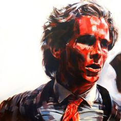 Patrick Bateman - American Psycho (Christian Bale) by kevinsbrush Drama Film, Drama Movies, American Psycho Poster, Christian Bale, Aesthetic Backgrounds, Horror Stories, American Actors, Movies And Tv Shows, I Movie