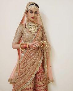 Shivangi Joshi to Dalljiet Kaur: These telly brides look . Pakistani Bridal Makeup, Indian Bridal Lehenga, Indian Bridal Fashion, Indian Bridal Wear, Indian Wear, Desi Wedding Dresses, Bridal Dresses, Wedding Bride, Wedding Set