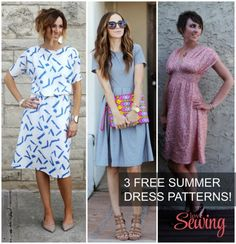3 Gorgeous (and free) summer dress patterns and tutorials free patterns