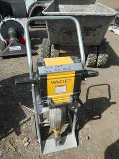 FOR ONLINE AUCTION Wednesday, April 17th ARA of Michigan Auction Repocast.com Wacker Electric Jackhammer Cart with Bits and Breaker, non-working, for parts Auction is open to the public! For more information, call Repocast 866-550-7376 or visit Repocast.com Used Construction Equipment, Outdoor Power Equipment, Wednesday, Michigan, Cart, Electric, Auction, Public, Covered Wagon