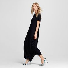 Women's T-Shirt Maxi Dress - Who What Wear - Black Xxl