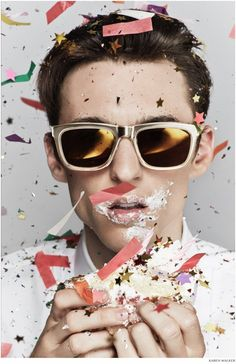 Thomas Gibbons Eats Cake for Karen Walker Spring/Summer 2015 Campaign image Karen Walker Spring Summer 2015 Campaign Thomas Gibbons 002 800x1234