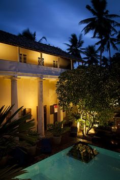 Galle Fort Hotel, with internal courtyard and pool