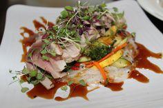 Ballard's Sesame Tuna - Vermicelli Noodles, Sauteed Vegetables Sesame Seed and Teriyaki Sauce