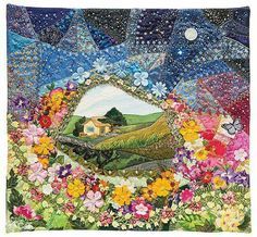Ribbon Embroidery Ideas Valerie Bothell –– Fun new ways to make any quilt a little bit crazy If you cross traditional crazy quilting, some favorite pieced quilt patterns, and today's machine-quilting methods, what do you get - Quilting Templates, Quilt Patterns Free, Quilting Designs, Quilting Ideas, Block Patterns, Crazy Quilt Stitches, Crazy Quilt Blocks, Crazy Quilting, Crazy Quilt Tutorials