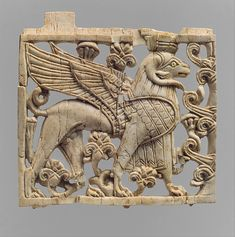 Ivory plaque of ram-headed sphinx  Mesopotamian, Assyrian, Neo-Assyrian, Period, 9th - 8th century BC