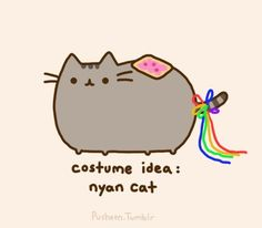 This is what my cat would look like in a large sized nyan cat costume!!! No lie.