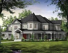 Wow! Magnificent Victorian Estate Home Plan - 81117W | 1st Floor Master Suite, Butler Walk-in Pantry, CAD Available, Corner Lot, Country, Den-Office-Library-Study, Luxury, MBR Sitting Area, Media-Game-Home Theater, PDF, Victorian, Wrap Around Porch | Architectural Designs