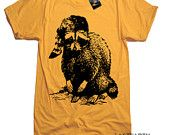 Mens Raccoon Wildlife Woodland T Shirt - American Apparel Tee - S M L XL and XXL (15 Color Options)