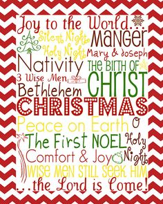 Day 3 of 12 Days of Christmas Fun: CHRISTmas Subway Art Printable | Food, Folks, and Fun