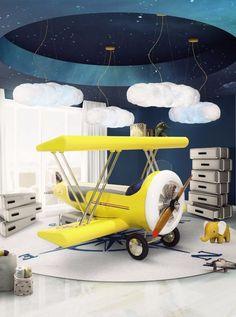 Comfy Kids Bedroom Trends Ideas For 2019 Bedroom Themes, Bedroom Decor, Bedroom Ideas, Modern Bedroom, Trendy Bedroom, Bedroom Styles, Bedroom Lighting, Bedroom Designs, Airplane Kids
