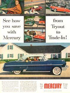 1954 Mercury - See how you save - Original Ad