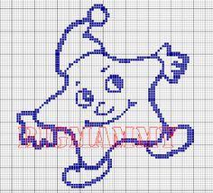 C2c Crochet, Filet Crochet, Baby Motiv, Disney Cross Stitch Patterns, Cross Stitch Alphabet, Knitting Charts, Cross Stitching, Pixel Art, Smurfs