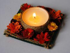 Diwali Decoration Items, Diwali Lantern, Diy And Crafts, Arts And Crafts, Mason Jar Candle Holders, Diwali Diy, Diy Wall Painting, Paper Quilling Designs, Diy Candles