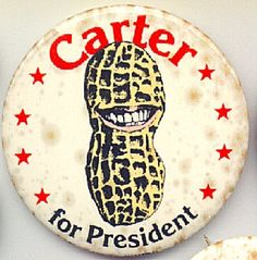 Jimmy carter's pin for voting for him