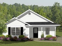 New House Plans Southern French Open Floor Ideas 2 Bedroom House Plans, Cottage Style House Plans, Southern House Plans, New House Plans, Small House Plans, House Floor Plans, Southern Living, Architectural Design House Plans, Architecture Design