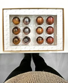 No need to give me  as long as you can give me these vintage ice wine chocolates.  The one I had was the 'Gewurztraminer Icewine & Lychee Rose Ganache' and it was absolutely divine. Thanks @pork_ninjas and @wildsweets for hosting such a great #tasting!