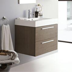 Relax Oak Bathroom Wall Mounted Vanity Unit