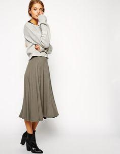 ASOS | ASOS Midi Circle Skater Skirt at ASOS