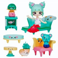Happy Places Shopkins Mermaid Tails Surprise Me Pack - Relaxing Ripples Lounge Shopkins Happy Places, Shopkins And Shoppies, Cute Lipstick, Personajes Monster High, Moose Toys, Mermaid Under The Sea, Cool Toys For Girls, Mermaid Tails, Lol Dolls