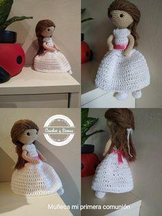 Muñeca realizada con lana de algodón Se personalizan , precio de venta 30€ Lana, Crochet Hats, Knitting Hats