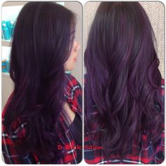 Purple balayage ombré  Great hair and services live at D-Rock salon, Fairfax VA | 703-293-9400 Drocksalon.com