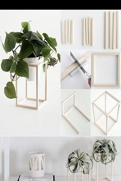 Home improvement in black, white and wood. Flower holder tinker with wood . - Home improvement in black, white and wood. Tinker flower holder with wood – Diyprojectgardens … - Decoration Bedroom, Decoration Design, Diy Home Decor, Living Room Designs, Living Room Decor, Decor Room, Wall Decor, Do It Yourself Decoration, Do It Yourself Crafts