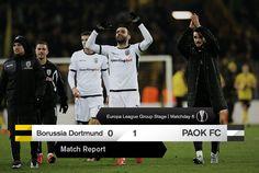 Borussia Dortmund PAOK 0-1 Europa League, Borussia Dortmund