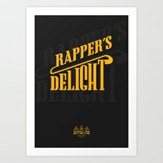 HipHop Anthem : Sugarhill Gang Art Print by Lbert - $15.00
