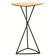 Smooth yet rustic, the BB Triangular Teak Top High Table bears a teepee-like steel frame base and superior-quality teak surface, crafted for the sun. BB designed for Jane Hamley Wells.
