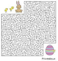 Small maze: Help the animals find their easter egg 2 Preschool Art Activities, Easter Activities, Easter Coloring Pages, Colouring Pages, Easter Crafts, Crafts For Kids, Easter Games, Easter Story, Easter Holidays