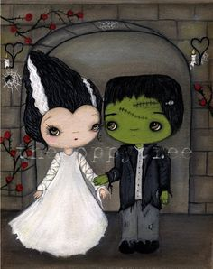 The Bride and Frankenstein