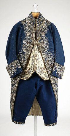Court suit, late 18th–early 19th century, French, silk, metallic thread, paste (scheduled via http://www.tailwindapp.com?utm_source=pinterest&utm_medium=twpin&utm_content=post539861&utm_campaign=scheduler_attribution)