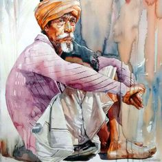 30 Stunning Watercolor Paintings by Pondicherry artist Rajkumar Sthabathy | Read full article: http://webneel.com/watercolor-paintings-pondicherry-artist-rajkumar-sthabathy | more http://webneel.com/daily | Follow us www.pinterest.com/webneel
