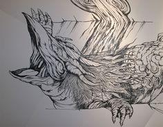 Dibujo del marcador Negro por Yosuke Goda