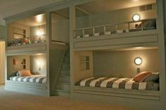Built in bunk beds  http://augustfields.blogspot.com/search/label/Boy%20Bunk%20Room