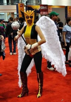 """How to make a DC's """"Hawkgirl"""" costume #Halloween #superhero #comics #Justice_League #graphic_novels #sewing"""